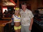 Rick Beale and former Bucs cheerleader and current WingHouse bartender Leigh Killian.