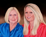 Julie Stanley won the silent auction Oil Portrait donation. The donation was by Yvonne Holste.  This is a photo of the f