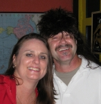 Mary Richard and her friend Don (wearing a mullet wig in the cantina)