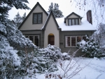 From Leonard Ruff:        Our house during the last winter's snowstorm