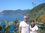 Ben and Mary Anne Hardin celebrating Ben's big 50 just outside of Vernazza Italy