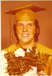 Kathleen's Cap & Gown Picture    I thought this was a good picture       back then . . . LOL