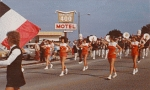 Homecoming parade passes by the fabulous Imperial 400 Motel...is that still there?  Web Geek:  No, now a lovely park.
