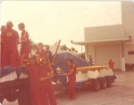 Leo prepares to fly through the '77 Homecoming Parade
