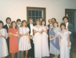 Mike and Debbi Carter, Cindy and Dennis Ross, the Templin boys, Kathy Springer, Beth McSween and other LHS grads, 8/84