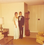 LHS Juniors David Lang and Sandy Stevens ready for the '76 prom
