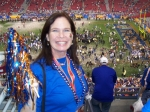 Liz Barrett at the BCS Championship Game! Best time ever!