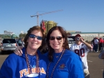 Liz Barrett and her sister Karen,  tailgating before Florida-Ohio State game