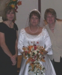 The Dee triplets:  Doris, Debbie, and Diane, at Debbie's recent wedding.