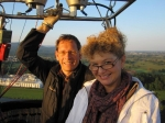Yvonne's balloon ride in Baden Baden Germany